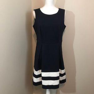 Calvin Klein Nautical Navy and White Dress
